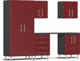 Ruby Red Metallic MDF 6-Piece Kit with Workstation