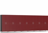 Ruby Red Metallic MDF 7-Pc Tall Cabinet Kit