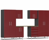 Ruby Red Metallic MDF 7-Piece Kit with Workstation
