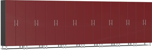 Ruby Red Metallic MDF 8-Piece Tall Cabinet Kit