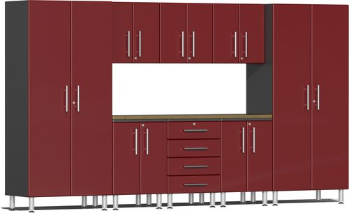 Ruby Red Metallic MDF 9-Piece Kit with Worktop