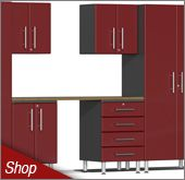 Ruby Red Metallic MDF Cabinets