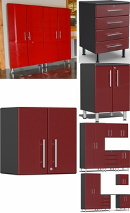 Items in Ruby Red Metallic MDF Cabinets