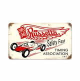 Russetta Timing Metal Sign