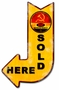 Russian Oil Products Sold Here Arrow Metal Sign