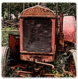 RUSTED TRACTOR MC CORMICK Metal Sign