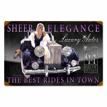 Sheer Elegance Metal Sign