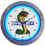 Shelby Cobra Ford Olp Mustang Neon Clock