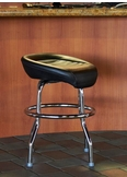 Custom Natural Leather Bar Stools