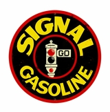 Signal Gasoline Metal Sign