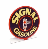 Signal Gasoline Topper Metal Sign