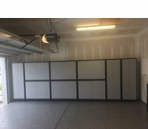 """Silver Plywood Cabinets 216"""" x 68"""" x 24"""""""