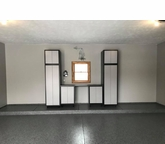 """Silver Plywood Cabinets 120 W x 92"""" H x 24"""" D"""