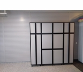 """Silver Plywood Cabinets 96"""" W x 92"""" T x 24"""" D"""