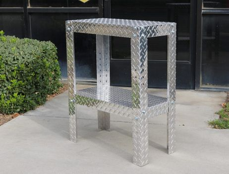 Skinny Diamond Plate Table