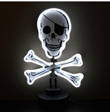 Skull And Crossbones Neon Sculpture