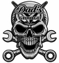 Skull Chrome Metal Sign