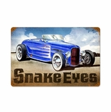 Snake Eyes Hot Rod Metal Sign