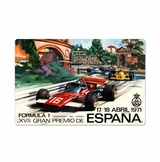 Spanish Formula One Metal Sign