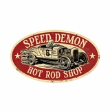 Speed Demon Hrshop Metal Sign