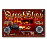 Speed Shop Metal Sign