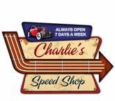 Speed Shop Personalized Metal Sign