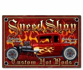 Speedshop Metal Sign