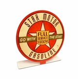 Star Motor Gas Topper Metal Sign