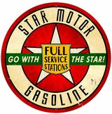 Star Motor Gasoline Metal Sign