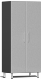 Stardust Silver Metallic MDF 2-Door Tall Cabinet