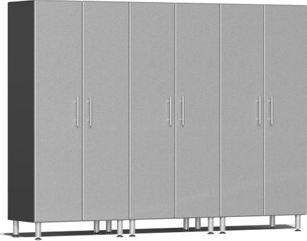 Stardust Silver Metallic MDF 3-Pc Tall Cabinet Kit