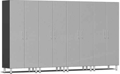 Stardust Silver Metallic MDF 4-Pc Tall Cabinet Kit