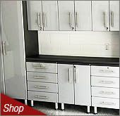 Stardust Silver Metallic MDF Cabinets