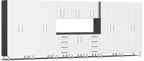Starfire White Metallic MDF 11-Piece Kit with Workstation