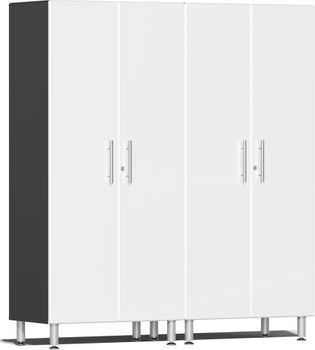 Starfire White Metallic MDF 2-Pc Tall Cabinet Kit
