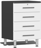 Starfire White Metallic MDF 4-Drawer Base Cabinet