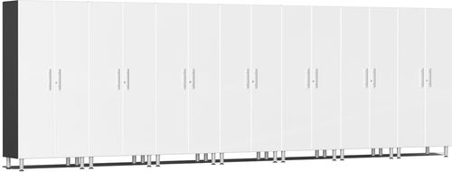 Starfire White Metallic MDF 7-Pc Tall Cabinet Kit
