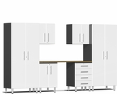 Starfire White Metallic MDF 7-Piece Kit with Workstation