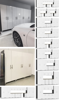 Items in Starfire White Metallic MDF Cabinets