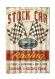 Stock Car Corrugated Metal Sign