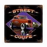 Street Coupe Metal Sign