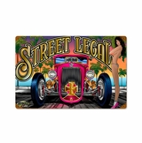 Street Legal Girl Metal Sign
