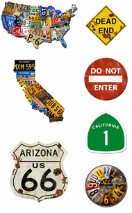 Items in Street Signs and License Plate Signs