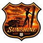 Sunshine Surf Metal Sign