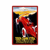 Terza Coppa Metal Sign