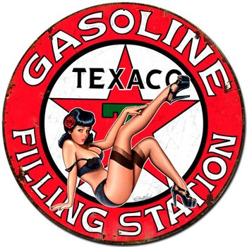 Texaco Girl Metal Sign