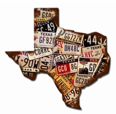 Texas License Plates Metal Sign