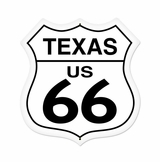 Texas Route 66 Metal Sign