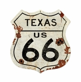 Texas US 66 Metal Sign