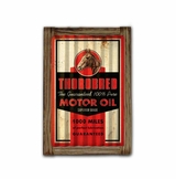 Throbred Motor Oil Corrugated Framed Metal Sign